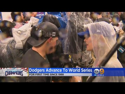 Watch The Dodgers' Champagne Celebration