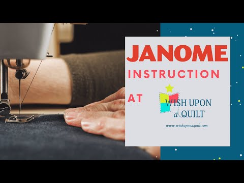 Janome 5300QDC Demo With Wish Upon A Quilt