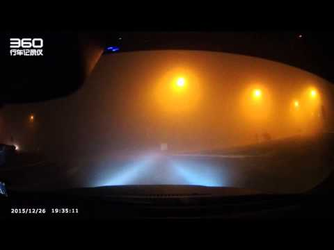 Driving in Milan with foggy weather, can't see sh*t!!