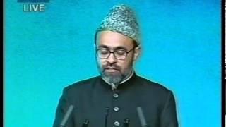 Tilawat, Nazm and Report about Wakalat Isha'at by Naseer Ahmad Qamar at Jalsa UK 2002