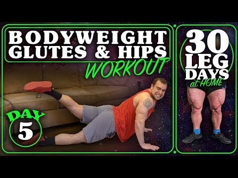 Bodyweight Glute & Hip Workout At Home | 30 Days of Leg Day At Home Without Equipment Day 5