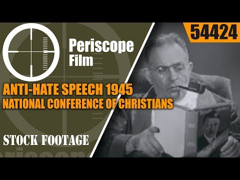 ANTI-HATE SPEECH 1945 NATIONAL CONFERENCE OF CHRISTIANS AND JEWS  54424