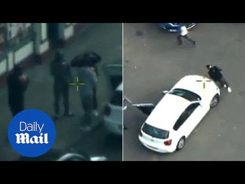 'I've been shot!': Armed gang wreak havoc in Birmingham city centre - Daily Mail