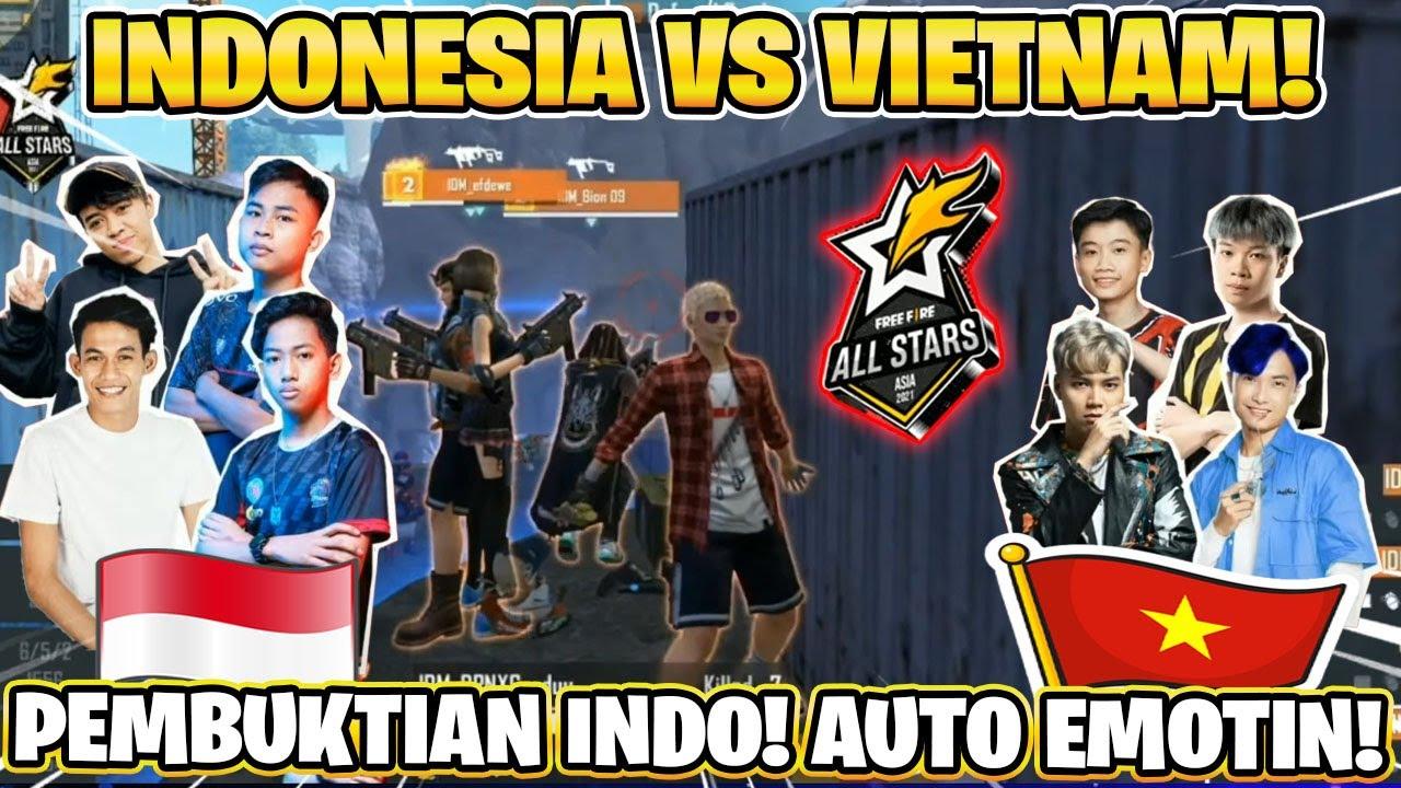 DETIK DETIK INDO JUARA VS VIETNAM! GILA GAMEPLAY IQ 999! FREE FIRE ALLSTARS