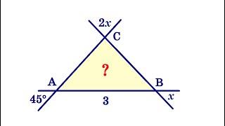 Найдите площадь треугольника на рисунке ★ GRE Mathematics Subject Test ★ Тест по математике в США