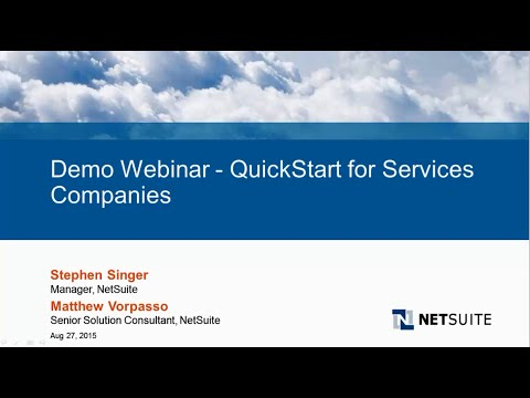 Live Product Demo: NetSuite QuickStart for Services Companies