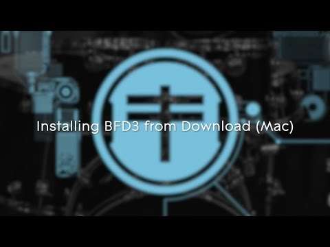 FXpansion BFD3 - Installing from Download on Mac OSX