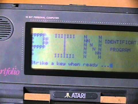 Terminator 2 Atari Portfolio PIN ID Program