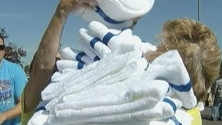 Hotel Workers Compete In Housekeeping Olympics