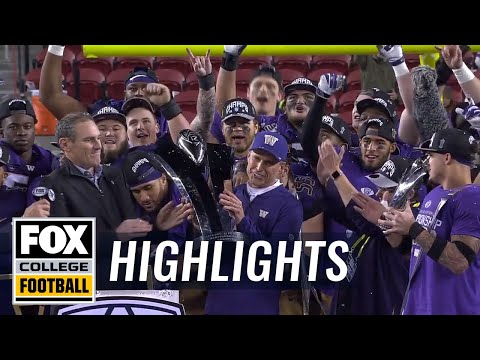Washington captures the Pac-12 Championship over Utah | FOX COLLEGE FOOTBALL HIGHLIGHTS