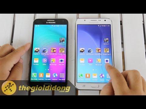 [Speedtest] Samsung Galaxy E7 và Samsung Galaxy J7 | www.thegioididong.com