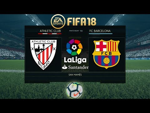 FIFA 18 Athletic Bilbao vs Barcelona | La Liga 2017/18 | PS4 Full Match