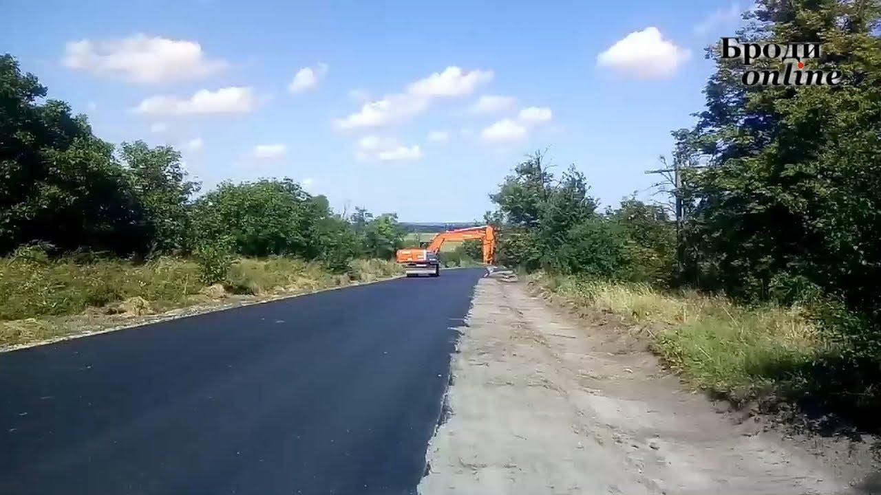 На Бродівщині активно ремонтують дороги (ТК