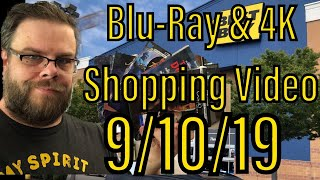 Blu-Ray \u0026 4K Shopping Video for 9/10/19!