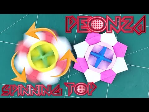 How To Make A Paper Fidget Spinner WITHOUT BEARING - Origami Incredible Paper Spinning Top Tutorial
