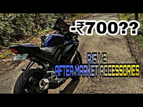 YAMAHA R15 V3 AFTERMARKET ACCESSORIES AT LOW PRICE || YZF R15 V3 || CUSTOM  BODY KIT