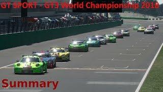 GT SPORT - GT3 World Championship 2018 Summary