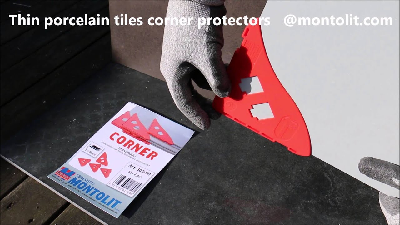 Thin porcelain tiles corner protectors by montolit youtube thin porcelain tiles corner protectors by montolit dailygadgetfo Choice Image