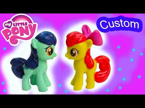 Custom MLP My Little Pony Apple Bloom Filly Colt DIY Painted Craft Foal Toy