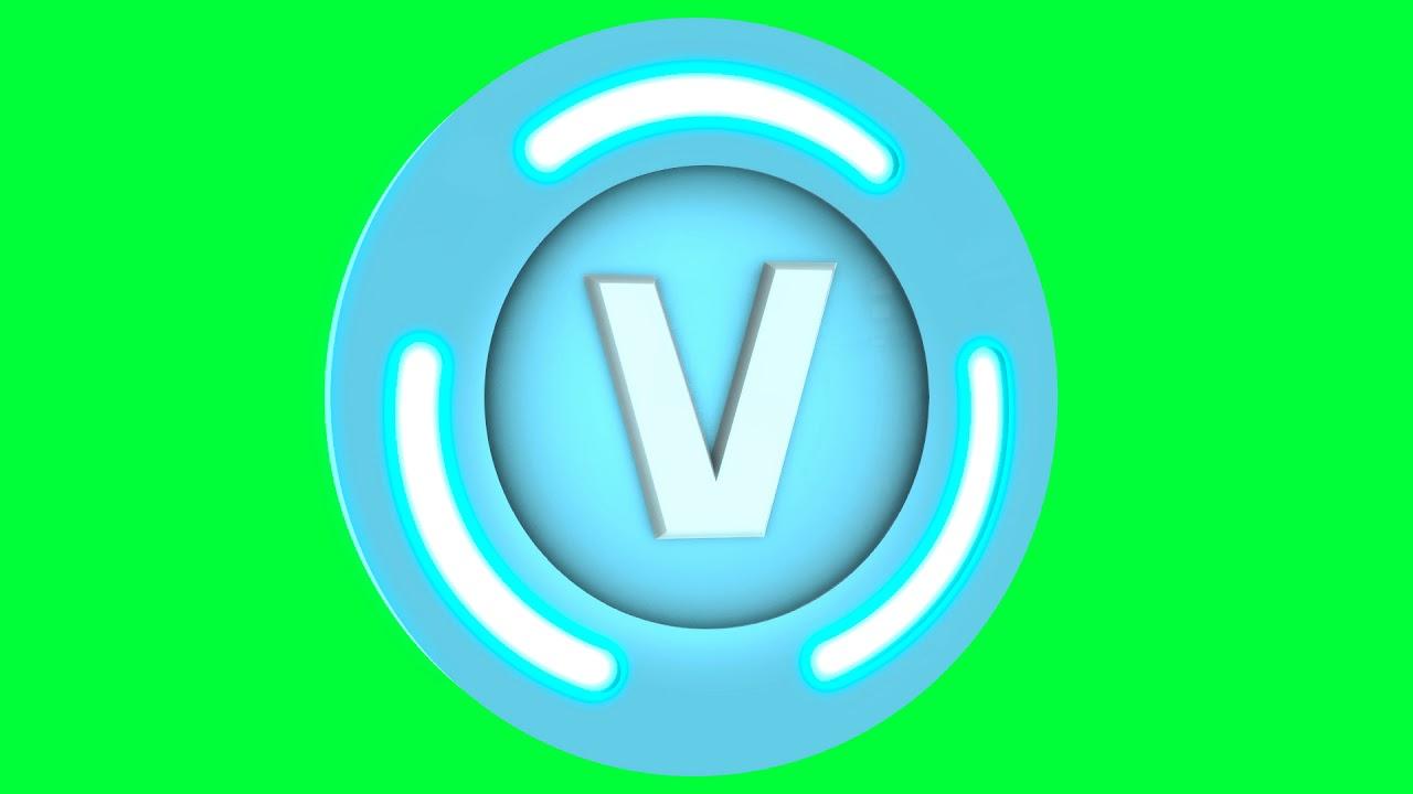 Fortnite V Bucks Green Screen Logo Loop Chroma Animation Youtube