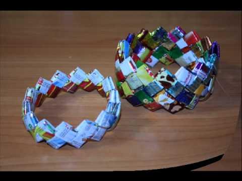 Видео как сделать из фантиков от конфет фото 882