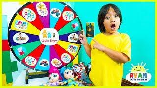 Baixar Ryan plays Nick Jr Quiz Spin Wheels game with Paw Patrols Surprise Toys