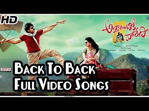 Attarintiki Daredi || Back To Back Video Songs || Pawan Kalyan, Samantha, Pranitha
