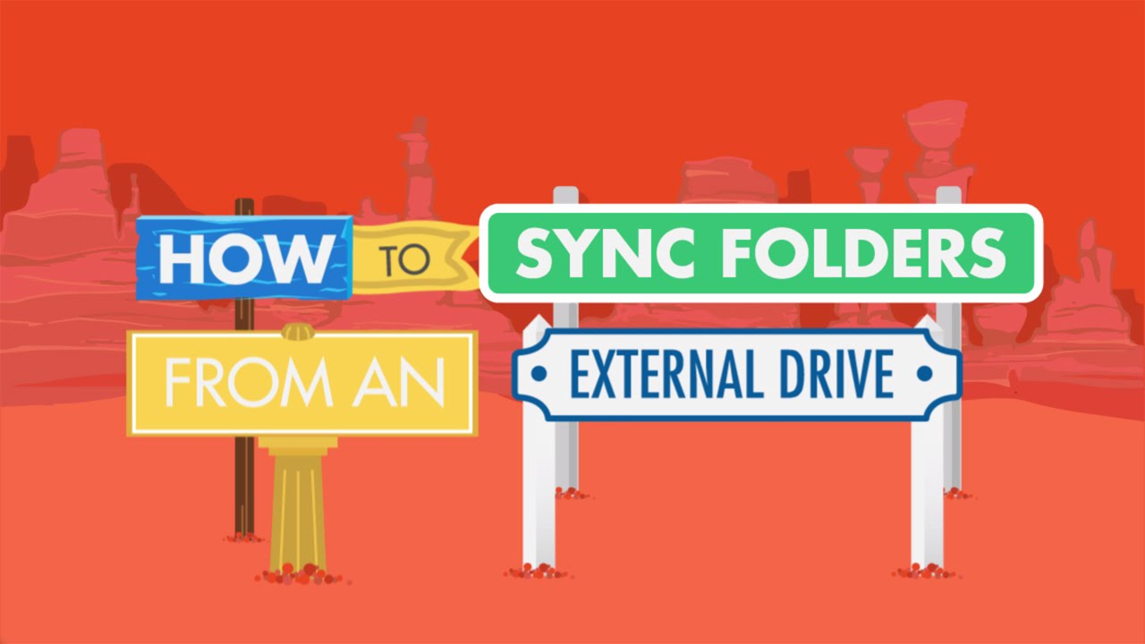 How to sync folders from an external hard drive with Google Drive