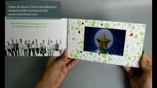 5 inch Merry Christmas video brochure - http://www.cheertrend.com