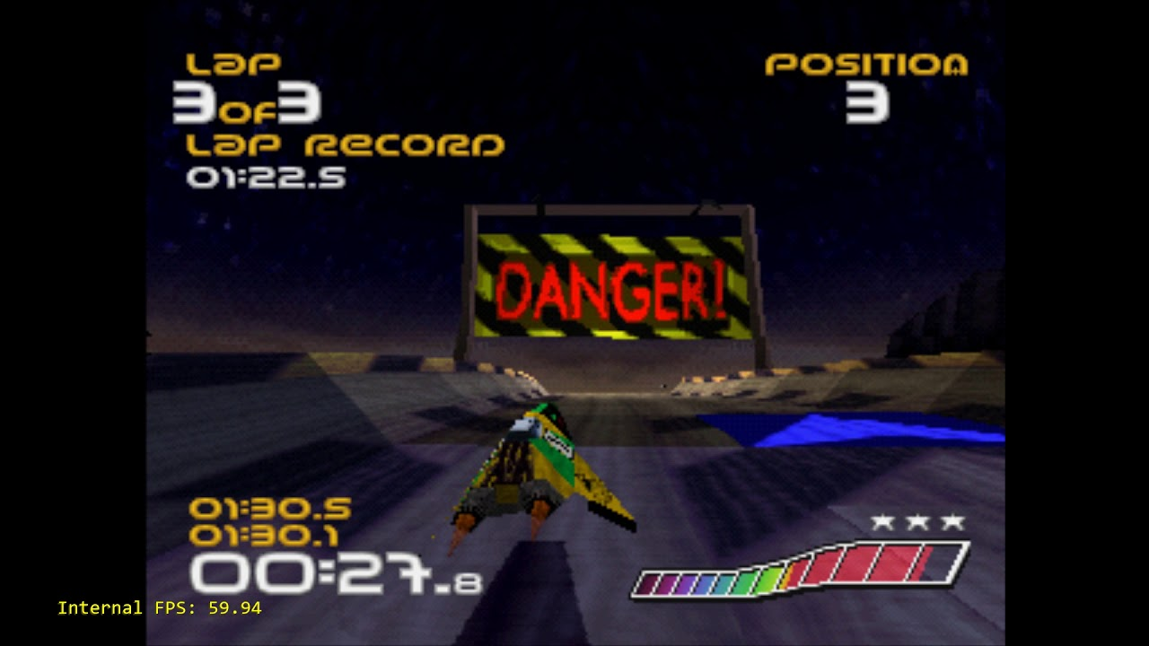 Beetle PSX - CPU Overclocking - True 60fps Wipeout PS1 with 250%  overclocking!