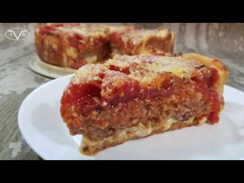 Making Sausage Deep Dish Pizza Recipe