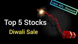 Diwali Sale 🔥 Top 5 Stocks to buy Now | Upto 40% discount | Garima Dubey