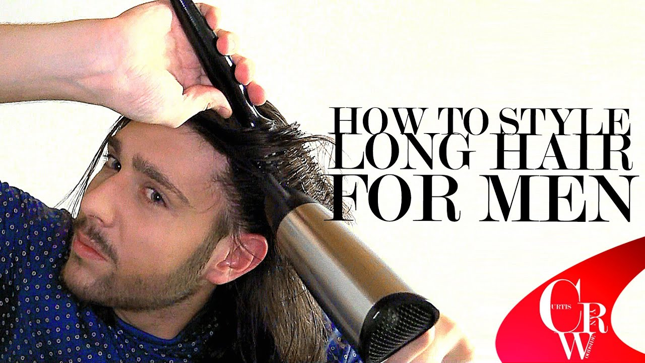How To Style Long Hair For Men Youtube