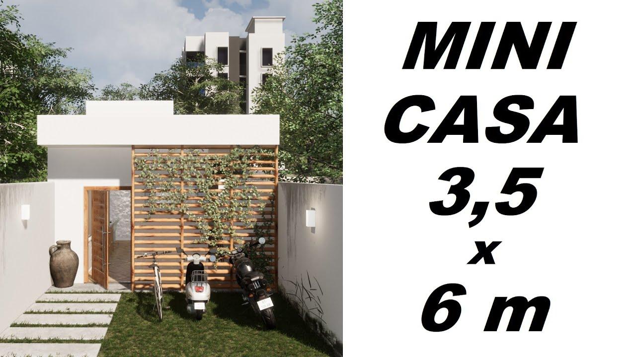 CASA PEQUENA DE 3,5 x 6 METROS - KITNET