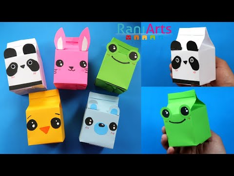 origami-milk-box---diy---cute-animals-(kawaii)