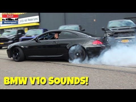 Best of BMW V10 Engine Sounds 2018 - Burnouts, Drifts & Accelerations!