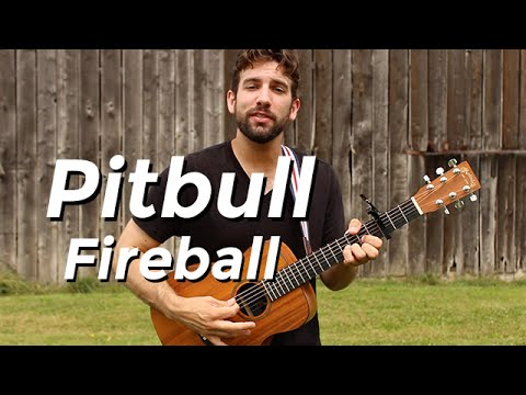 Pitbull - Fireball (Guitar Tutorial) by Shawn Parrotte