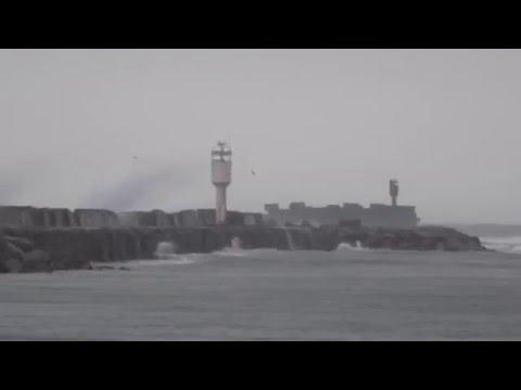 Baltic storm @ Liepaja port