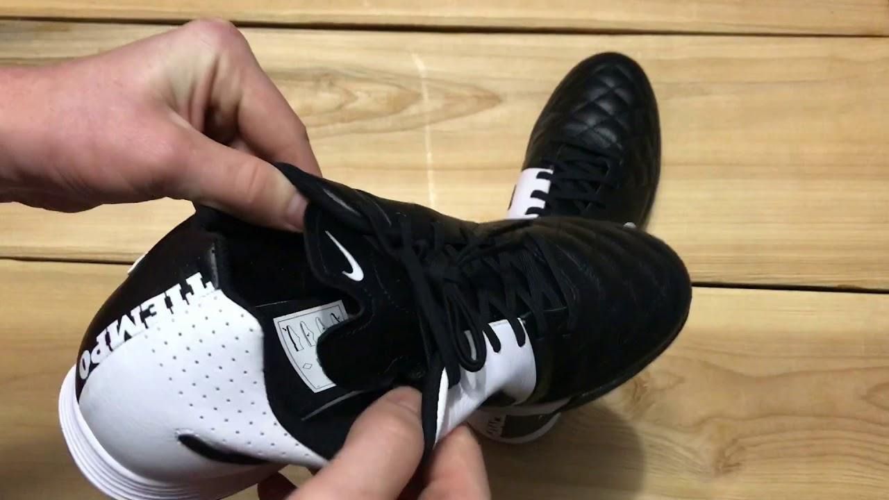 6f4287a179c78 Обзор сороконожек Nike TIEMPO GENIO LEATHER TF 631284-010 - YouTube