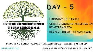 Universal Human Values / Jeevan Vidya Online Workshop by Giri - Day 5