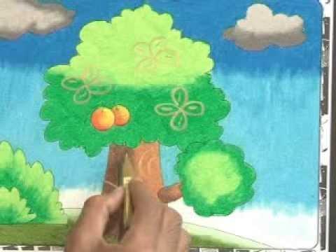 Belajar Mewarnai Pohon Youtube