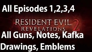 Resident Evil Revelations 2 - All Collectibles - Guns, Drawings, Parts Box, Larvae, Emblem Locations