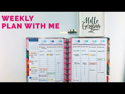 Functional Hourly Plan With Me | Weekly #planwithme #happyplanner #hourly