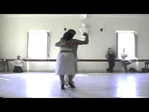 Javier Rodriguez y Geraldine Rojas lezione di tango Fivizzano 2002 di Francesco El Actor