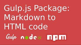 Gulp.js Plugin: Markdown to HTML