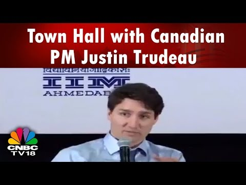 Town Hall with Canadian PM Justin Trudeau | LIVE From IIM Ahmedabad | CNBC TV18