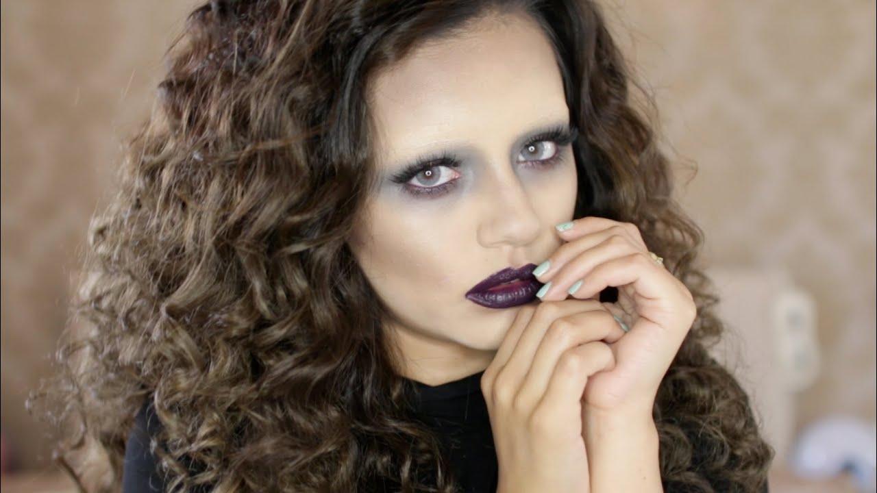 GLAM Ghost Halloween Makeup Tutorial 2015   Kaushal Beauty - YouTube