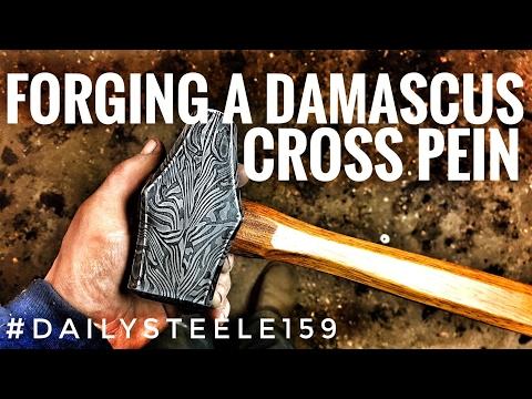 CRAZY Damascus Hammer!!! #50kGIVEAWAY