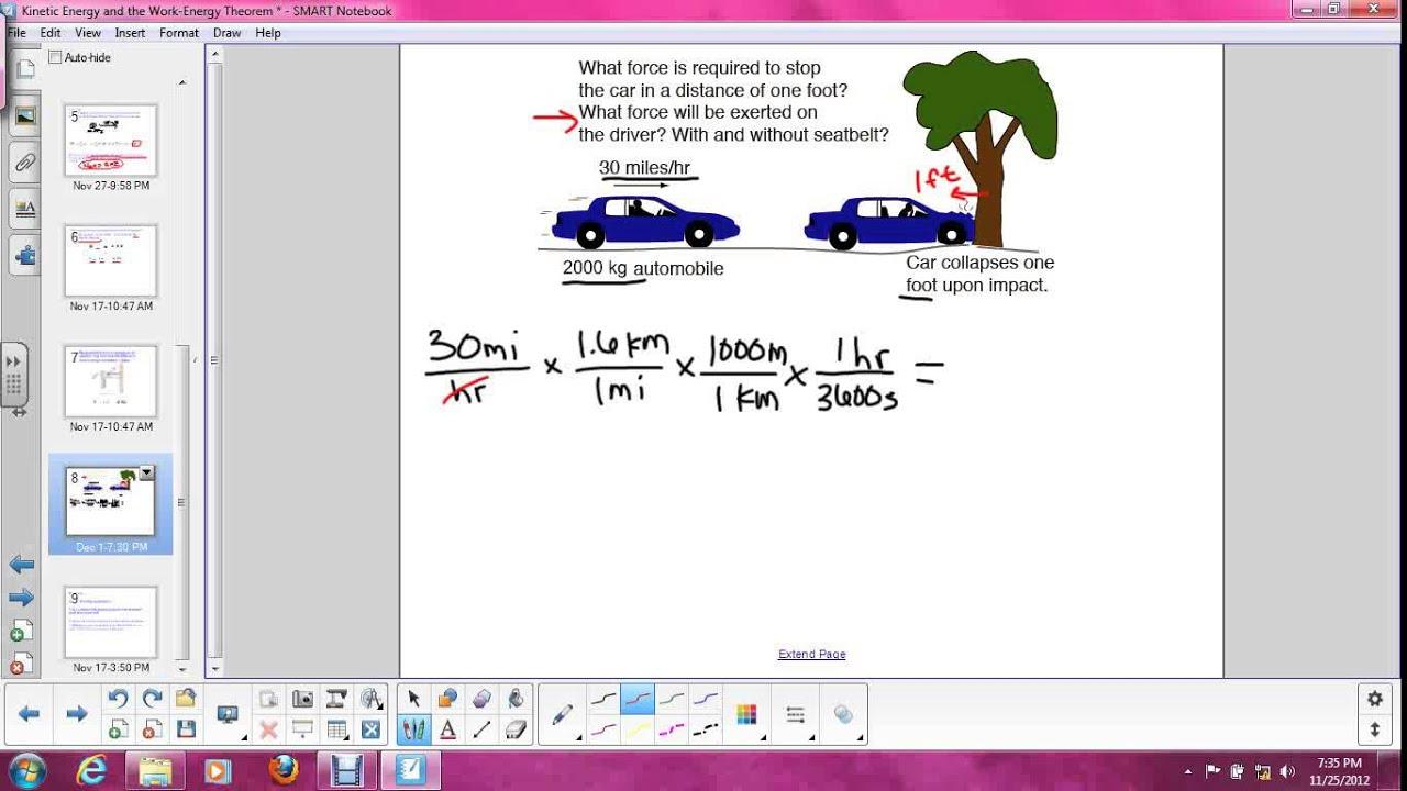 Kinetic Energy And The Work Energy Theorem