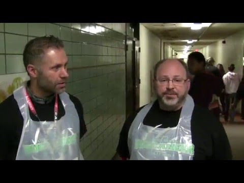 Bethlehem Academy's Friesen and Hanson serve lunch at WEM